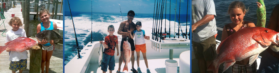 alabama children deep sea fishing orange beach alabama, young girl with red snapper