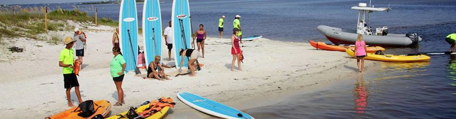 Kayak paddle boards in Orange Beach