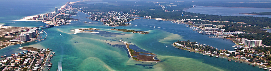 Orange Beach AL Coast Waterway Aerial