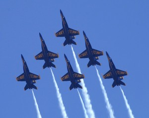 US Navy Blue Angels Formation
