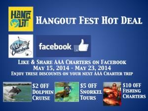 AAA Charters Inc Facebook Coupon