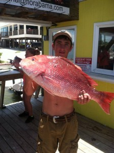 Orange Beach Deep Sea fishing for red snapper caught by TX teen