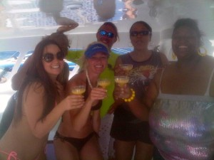 gulf shores al sailing ladies enjoying the dolphin cruise along the beaches