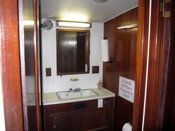 Salty Dog charter boat Interior