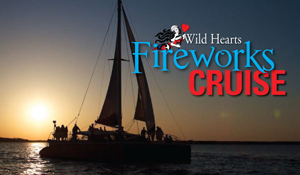 Orange Beach AL fireworks boat cruise aboard a luxury 53' Sailboat