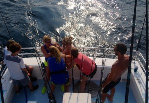 four lady anglers battle a big one shark fishing gulf shores alabama