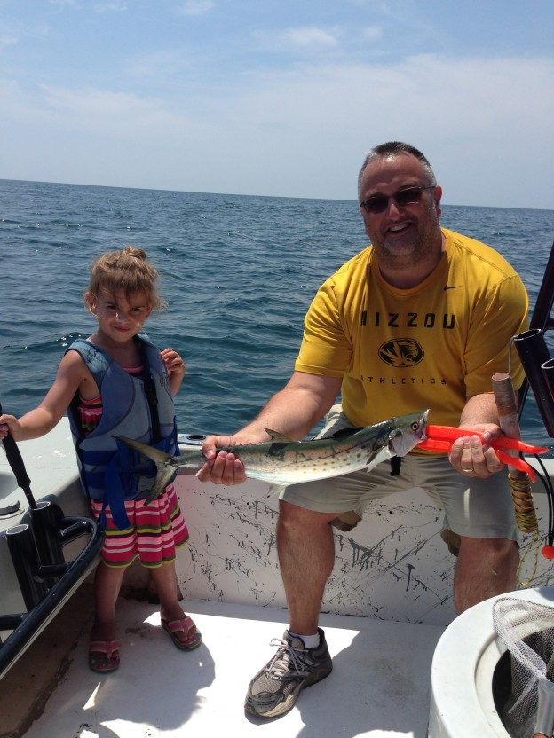 gulf shores inshore fishing charter with mackerel and 5 yr old MO angler