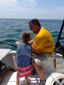 gulf shores family fishing charter Captain Calloway and 5 yr old MO angler