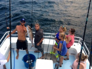 gulf shores deep sea fishing amberjack on a shared expense fishing charter