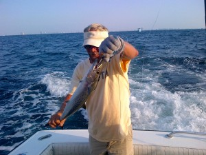 trolling for mackerel along the AL Gulf Coast with Don aboard Music til Midnight