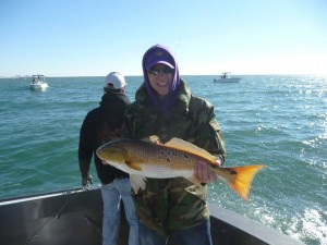 winter inshore fishing for redfish along the AL Gulf Coast
