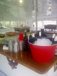 AAA Charters catering aboard a luxury sailboat