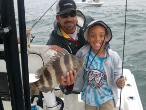 Texas Anglers enjoying a day of fishing along the AL Gulf Coast with Captain Marty