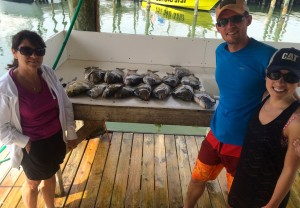 TN couple spent the day with Mom & Captain Marty gulf shores al inshore fishing sheepshead & redfish were biting!