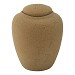 natural colored biodegradable marine urn with footprint design for gulf of mexico burials