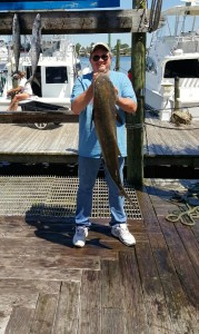 IL & AR anglers with the catch from a shared expense trolling trip on the Jamie G Cobia & king mackerel