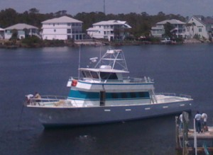 Orange Beach AL Deep Sea Fishing Headboat Miss E docked at Florabama
