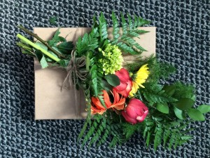 floral arrangement for Edgar Giles Gulf of Mexico burial at sea May 2015