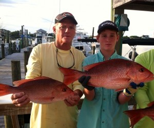 red snapper bite is ON along the Gulf Coast on a 6 passenger charter boat