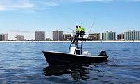 alabama inshore fishing guide Captain John Ramsey on 26' Center Console with tower for sight fishing