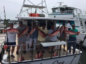 the catch of red snapper on AL charter boat Jus Cuz June 1, 2016