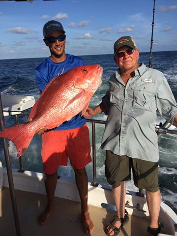 Big red snapper semi-private deep sea fishing on the AL Gulf Coast