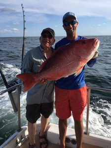 big red snapper semi private deep sea fishing on the AL Gulf Coast