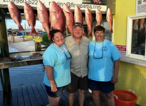 Big Red Snapper Enjoyed an afternoon fishing on Jus Cuz AL 6 pack charter boat
