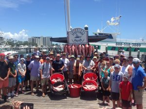 Affordable AL deep sea fishing on party boats orange beach gulf shores al July 2016