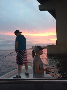 Fishing at Perdido Pass with an Orange Beach AL back bay guide