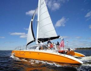 Gulf Ss Al Sailing Full Sail In Back Waters Of The Coast Orange Beach